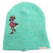 Peek A Boo Flamingo Beanie Hat in