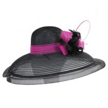 Eloise Sinamay Blend Lampshade Hat alternate view 3