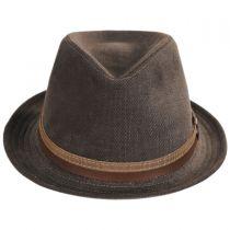 Montini Cotton Stingy Brim Fedora Hat in