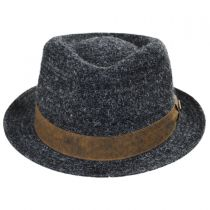 Braid Wool Blend Fedora Hat in