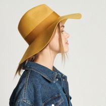 Piper Wool Felt Floppy Fedora Hat in
