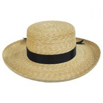 Violette Wheat Straw Boater Hat alternate view 2