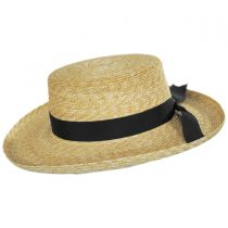 Violette Wheat Straw Boater Hat alternate view 3