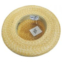 Violette Wheat Straw Boater Hat alternate view 4