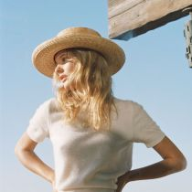 Violette Wheat Straw Boater Hat alternate view 5