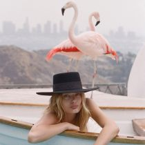 Sierra Wool Felt Boater Hat in