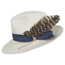 Fourteen Points Shantung Straw Fedora Hat in