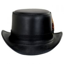 Stoker Double Stitch Band Leather Top Hat alternate view 2