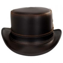 Stoker Double Stitch Band Leather Top Hat alternate view 6