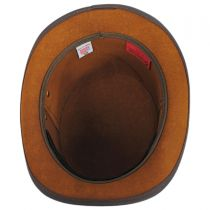 Stoker Double Stitch Band Leather Top Hat in