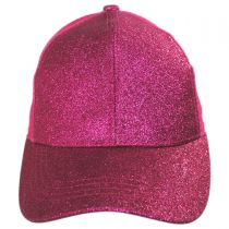 Glitter Mesh High Ponytail Adjustable Trucker Baseball Cap alternate view 8