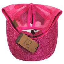 Glitter Mesh High Ponytail Adjustable Trucker Baseball Cap alternate view 10