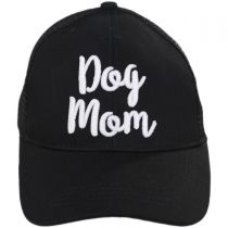 Dog Mom High Ponytail Adjustable Trucker Baseball Cap in