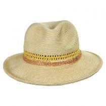Cosmopolitan Toyo Straw Fedora Hat alternate view 6