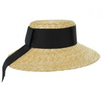 Louisa Milan Straw Boater Hat in