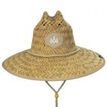Khaki Straw Lifeguard Hat alternate view 2