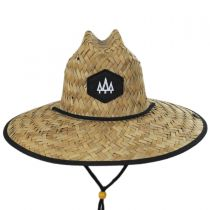 Blackout Straw Lifeguard Hat in