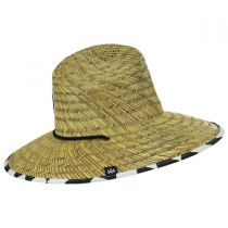 Checker Straw Lifeguard Hat in