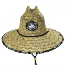 Bandana Straw Lifeguard Hat in