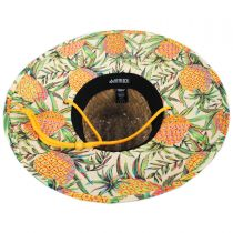 Pineapple Straw Lifeguard Hat in