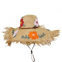 Fiore Raffia Straw Swinger Hat alternate view 2