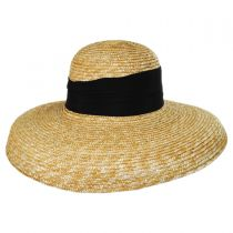 Holly Milan Straw Lampshade Hat in