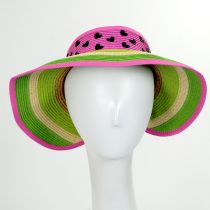 Summer Fun Toyo Straw Blend Roll-Up Visor alternate view 9