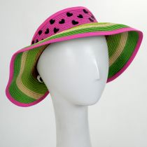 Summer Fun Toyo Straw Blend Roll-Up Visor alternate view 10