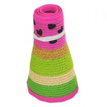 Summer Fun Toyo Straw Blend Roll-Up Visor alternate view 11