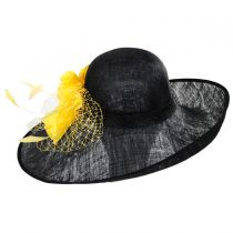 Mimosa Sinamay Straw Off Face Dress Hat in
