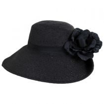 Blossom Toyo Straw Blend Off Face Hat alternate view 3