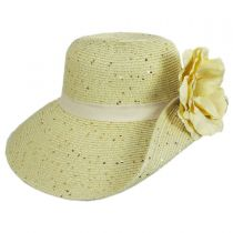 Blossom Toyo Straw Blend Off Face Hat alternate view 7