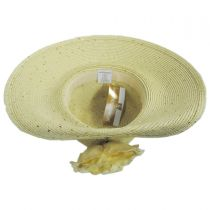 Blossom Toyo Straw Blend Off Face Hat alternate view 8