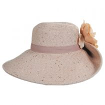 Blossom Toyo Straw Blend Off Face Hat alternate view 11