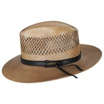Peak View Shantung Straw Safari Fedora Hat alternate view 3