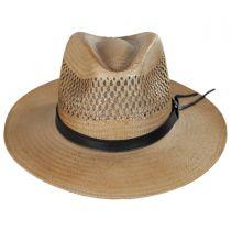 Peak View Shantung Straw Safari Fedora Hat in