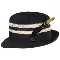 Highliner Hemp Straw Fedora Hat alternate view 3
