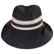 Highliner Hemp Straw Fedora Hat alternate view 10