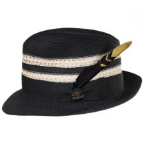 Highliner Hemp Straw Fedora Hat alternate view 11