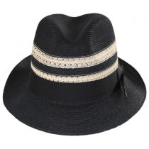 Highliner Hemp Straw Fedora Hat alternate view 14