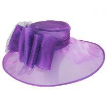 Layla Organza Boater Hat in