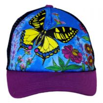 Child's Butterfly Trucker Snapback Baseball Cap alternate view 2