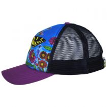 Child's Butterfly Trucker Snapback Baseball Cap alternate view 3