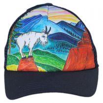 Child's Mountain Goat Trucker Snapback Baseball Cap in