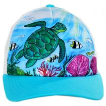 Child's Sea Turtle Trucker Snapback Baseball Cap alternate view 2