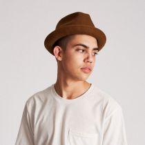 89e63d0ab114f3 Brixton Hats Gain Wool Felt Fedora Hat Stingy Brim & Trilby