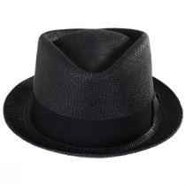 Diamond Panama Straw Fedora Hat in