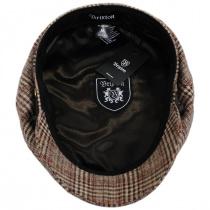 Houndstooth Plaid Wool Blend Fiddler Cap in