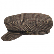 Houndstooth Plaid Wool Blend Fiddler Cap alternate view 7