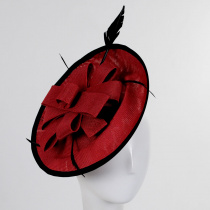 Rojo Disc  Fascinator Hat in